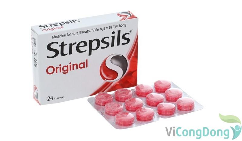 Tác dụng kẹo ngậm đau họng Strepsil