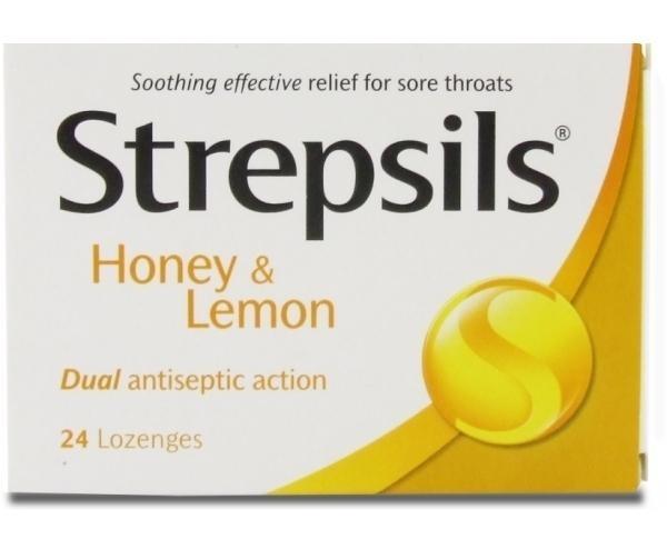 Kẹo ngâm đau họng strepsils