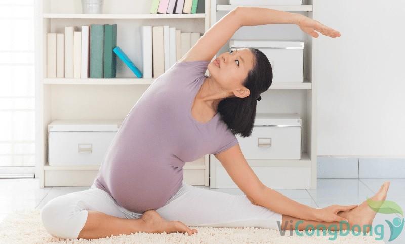 giảm đau thắt lưng khi mang thai