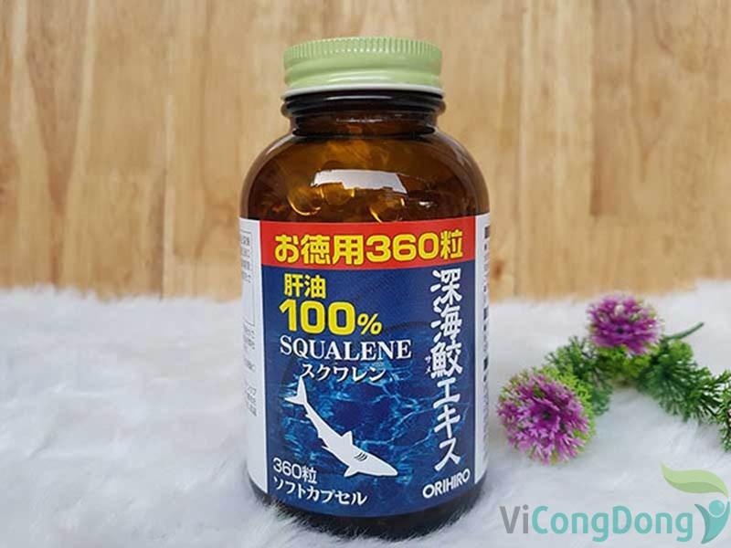 Thuốc trị đau lưng của Nhật Bản Orihiro Squalene (Sụn vi cá mập)
