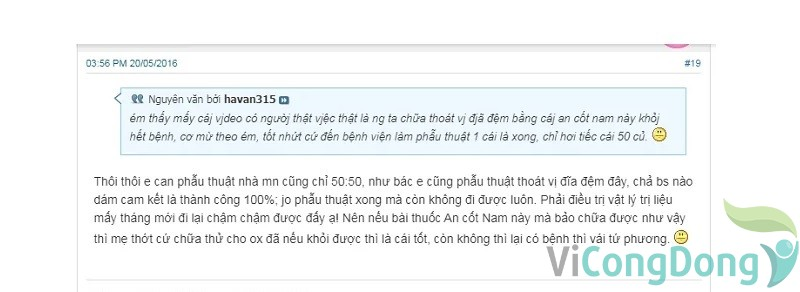 đánh giá An Cốt Nam webtretho