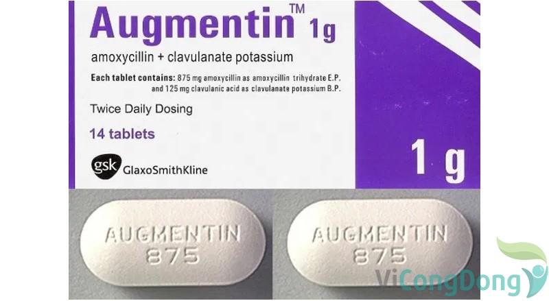 cách dùng thuốc Augmentin 1g