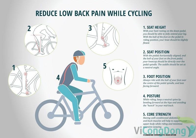 lưu ý khi đạp xe đối với người bị đau thần kinh tọa