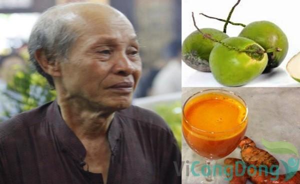 Sử dụng nghệ tươi và quả dừa để chữa bệnh