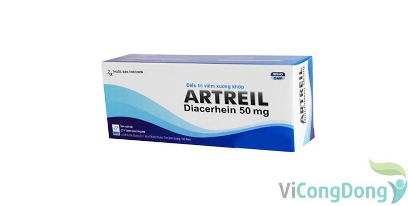 Tác dụng của thuốc Artreil 50mg