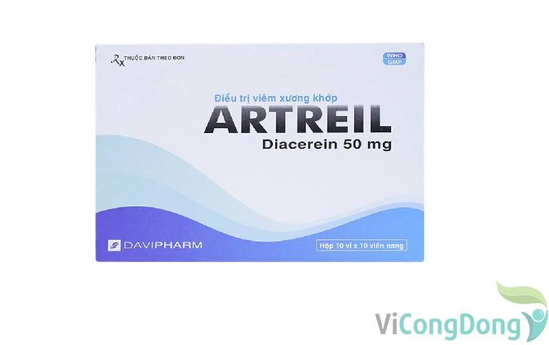 Thuốc Artreil 50mg giá bao nhiêu