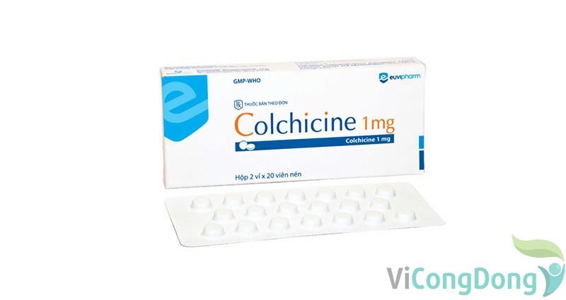 Cơ chế, tác dụng của colchicin