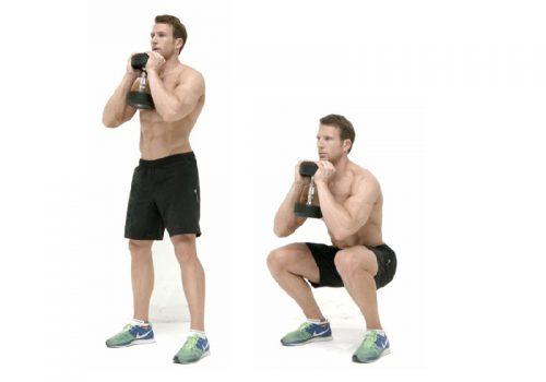 Bài tập tăng testosterone - Bài tập squat cùng với tạ đòn