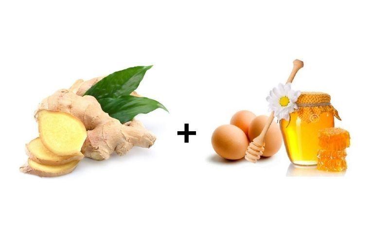 Chữa yếu sinh lý bằng gừng kết hợp với trứng gà và mật ong